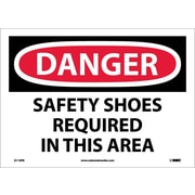 Danger, Safety Shoes Required In This Area, 10X14, Adhesive Vinyl