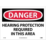 Danger, Hearing Protection Required In This Area, 10X14, Adhesive Vinyl