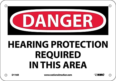 Danger, Hearing Protection Required In This Area, 7X10, Rigid Plastic