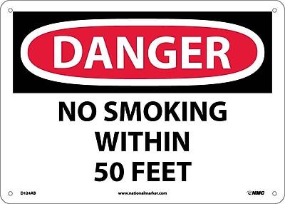 Danger, No Smoking Within 50 Feet, 10X14, .040 Aluminum