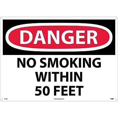 Danger, No Smoking Within 50 Feet, 20X28, .040 Aluminum