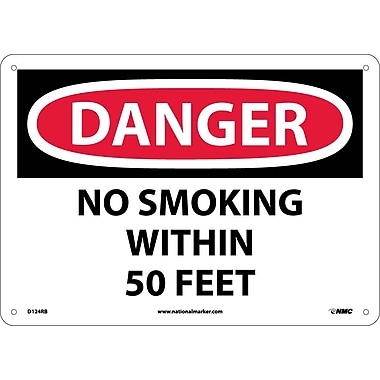 Danger, No Smoking Within 50 Feet, 10