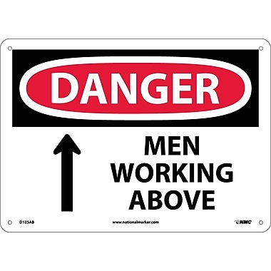 Danger, Men Working Above, 10X14, .040 Aluminum