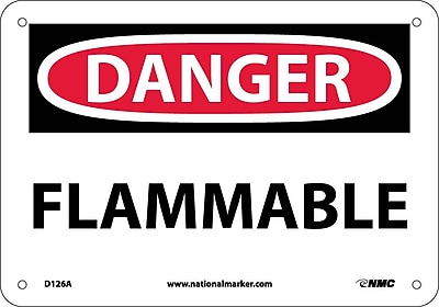 Danger, Flammable, 7X10, .040 Aluminum