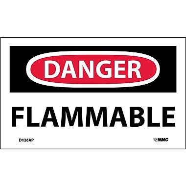 Labels Danger, Flammable, 3
