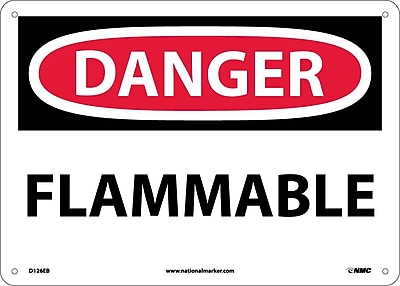 Danger, Flammable, 10X14, Fiberglass