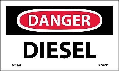 Labels - Danger, Diesel, 3X5, Adhesive Vinyl, 5/Pk