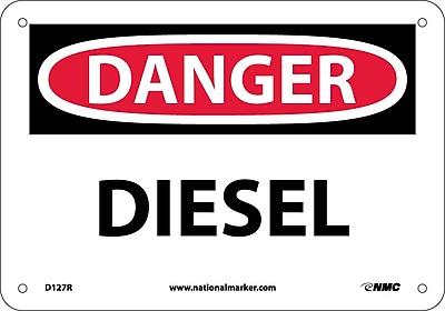 Danger, Diesel, 7X10, Rigid Plastic