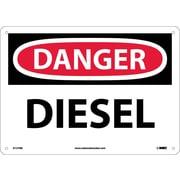 Danger, Diesel, 10X14, Rigid Plastic