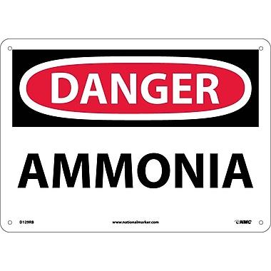 Danger, Ammonia, 10X14, Rigid Plastic