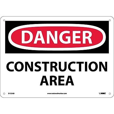 Danger, Construction Area, 10X14, .040 Aluminum