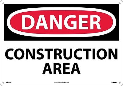 Danger, Construction Area, 14X20, .040 Aluminum