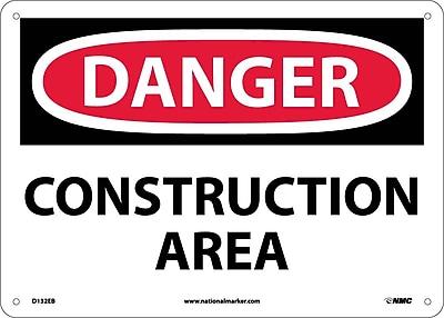 Danger, Construction Area, 10X14, Fiberglass