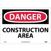 Danger, Construction Area, 10X14, Adhesive Vinyl