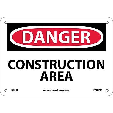 Danger, Construction Area, 7X10, Rigid Plastic