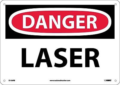 Danger, Laser, 10X14, Rigid Plastic