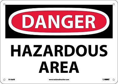 Danger, Hazardous Area, 10X14, .040 Aluminum