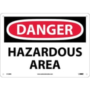 Danger, Hazardous Area, 10X14, Rigid Plastic