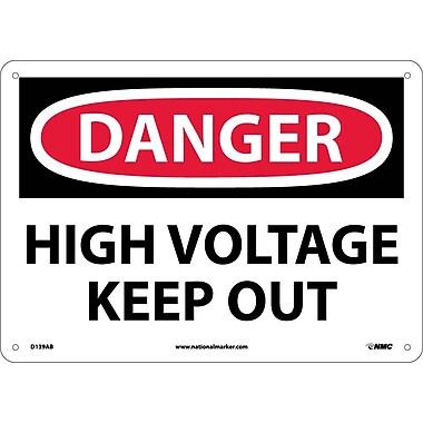 Panneau « Danger, High Voltage Keep Out », 10 x 14 po, aluminium de 0,04 po