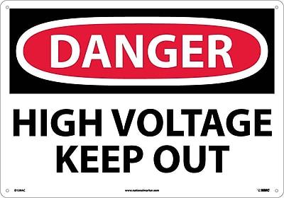 Danger, High Voltage Keep Out, 14X20, .040 Aluminum