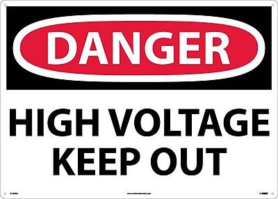 Danger, High Voltage Keep Out, 20X28, .040 Aluminum