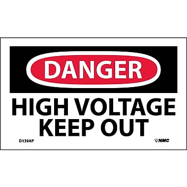 Labels Danger, High Voltage Keep Out, 3
