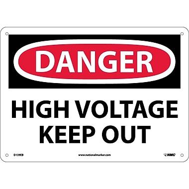 Danger, High Voltage Keep Out, 10X14, Fiberglass