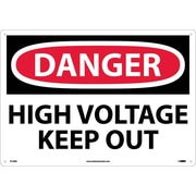 Danger, High Voltage Keep Out, 14X20, Rigid Plastic