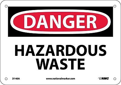 Danger, Hazardous Waste, 7X10, .040 Aluminum