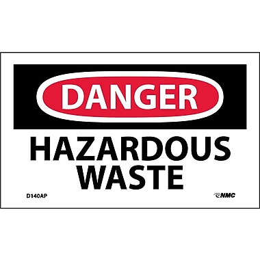 Labels Danger, Hazardous Waste, 3