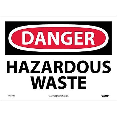 Danger, Hazardous Waste, 10X14, Adhesive Vinyl