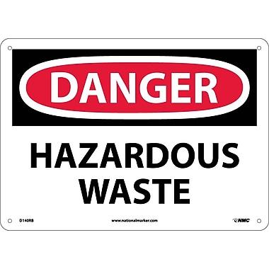 Danger, Hazardous Waste, 10X14, Rigid Plastic