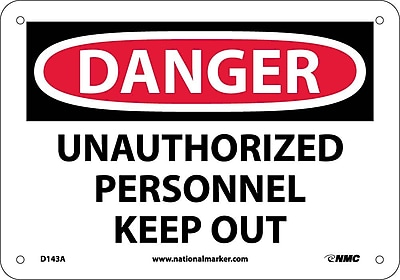 Danger, Unauthorized Personnel Keep Out, 7X10, .040 Aluminum