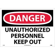 Danger, Unauthorized Personnel Keep Out, 14X20, Adhesive Vinyl