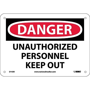 Danger, Unauthorized Personnel Keep Out, 7X10, Rigid Plastic