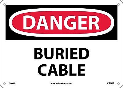 Danger, Buried Cable, 10X14, Fiberglass