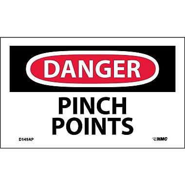 Labels Danger, Pinch Points, 3