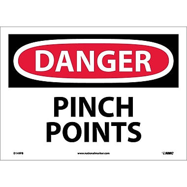 Danger, Pinch Points, 10X14, Adhesive Vinyl