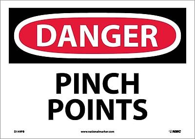 Danger, Pinch Points, 10X14, Adhesive Vinyl