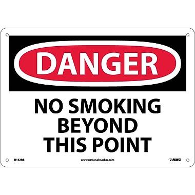 Danger, No Smoking Beyond This Point, 10X14, Rigid Plastic