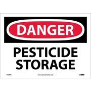 Danger, Pesticide Storage, 10X14, Adhesive Vinyl