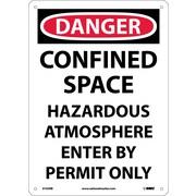 Danger, Confined Space Hazardous Atmosphere. . ., 14X10, Rigid Plastic