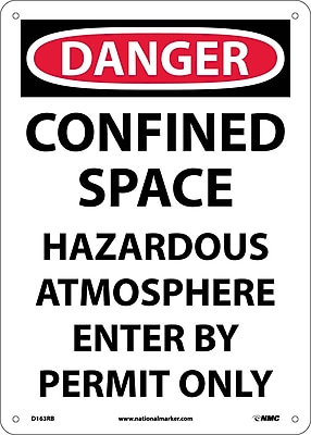 Danger, Confined Space Hazardous Atmosphere. . ., 14X10, Rigid Plastic