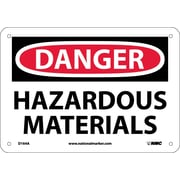 Danger, Hazardous Materials, 7X10, .040 Aluminum