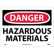 Danger, Hazardous Materials, 10X14, Adhesive Vinyl