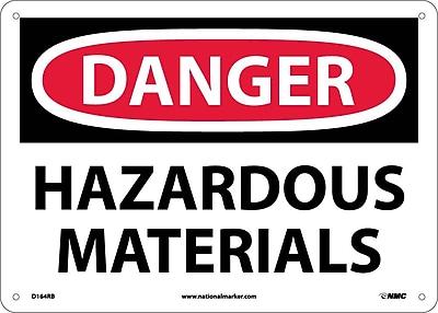 Danger, Hazardous Materials, 10X14, Rigid Plastic
