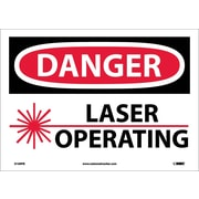 Danger, Laser Operating, 10X14, Adhesive Vinyl