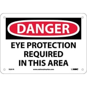 Danger, Eye Protection Required In This Area, 7X10, Rigid Plastic