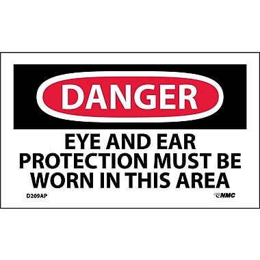 Labels Danger, Eye And Ear Protection Must Be Worn In This Area, 3