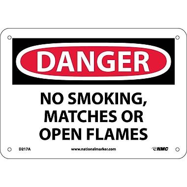 Danger, No Smoking Matches Or Open Flames, 7X10, .040 Aluminum